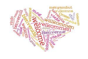 Ein Herz - Willkommen in vielen Sprachen
