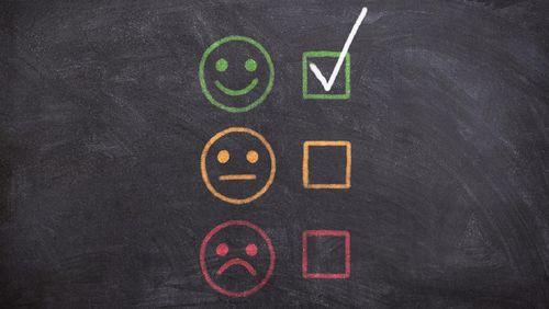 Grafik: Smileys Gut, Mittel, Schlecht