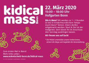 Externer Veranstaltungshinweis - kidical mass Bonn- Kinder auf das Rad!