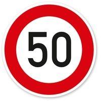 Verkehrsschild Tempo 50