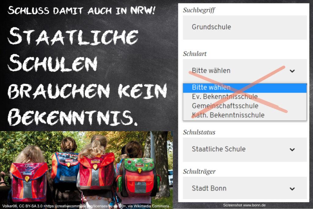 Petition zur Umwandlung staatlicher Bekenntnisschulen in Gemeinschaftsgrundschulen